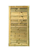 Porte bois Blooma Douro verte 90 x h.180 cm