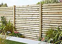 Lame de clôture bois Lemhi 180 x 12 cm