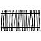 Clôture acier GoodHome Neva anthracite RAL 7021 180 x h.180 cm