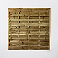 Panneau droit bois Blooma Hamme vert 45mm 180xh.180 cm