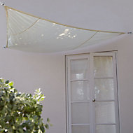 Voile d'ombrage triangle Blooma sable birch 360 cm