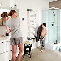 Sèche-serviettes électrique GoodHome Loreto blanc 750W