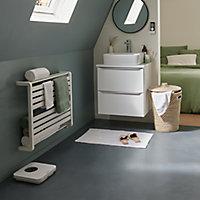 Sèche-serviettes électrique GoodHome Loreto blanc 500W horizontal