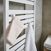 Kit de 2 patères GoodHome Muromi blanches pour sèche-serviettes