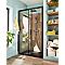 Porte de douche coulissante noir GoodHome Beloya transparente 120 cm