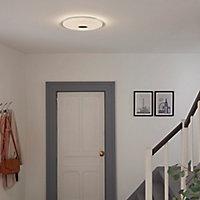 Plafonnier LED intégrée + anneau 2 en 1 Colours Angoon blanc neutre et blanc chaud 4000K Taille L