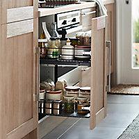 Rangement coulissant pour meuble de cuisine GoodHome Pebre 40 cm, 2 niveaux