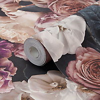 Papier peint vinyl sur intissé drosera mauve