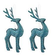 Décoration Rennes bleu (6 pièces)