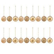 Boules de noël doré 60 mm (18 pièces)