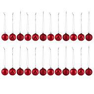 Boules noël rouge 40 mm (24 pièces)