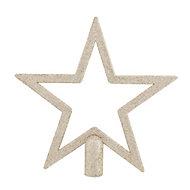 Cimier étoile champagne 20 cm