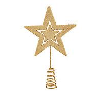 Cimier étoile doré 15 cm