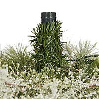 Sapin artificiel Fairview à LED, 4 pieds h.122 cm