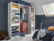 Kit dressing avec rideau Eklips II coloris blanc grisé L. 200 x P. 48 x H. 200 cm