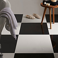Carrelage sol noir poli 60 x 60 cm Livourne 2