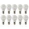 Lot 10 ampoules LED Diall E27 60W blanc neutre