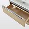 Meuble sous-vasque à suspendre Imandra décor chêne L. 80 x H. 60 x P. 45 cm