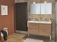 Porte-serviettes anneau Alessano chromé GoodHome