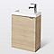 Meuble lave-mains à suspendre Imandra décor chêne L. 44 x  H. 55 x P. 23 cm