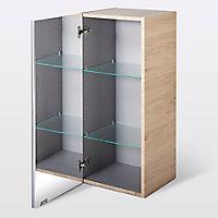 Armoire de salle de bains GoodHome Imandra bois miroir L.40 x H.90 x P.36 cm