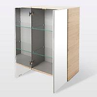 Armoire de salle de bains GoodHome Imandra bois L.60 x H.90 x P.36 cm