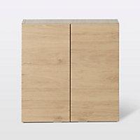 Armoire de salle de bains GoodHome Imandra bois L.60 x H.60 x P.15 cm