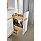 Meuble sous-vasque à suspendre GoodHome Adriska blanc L. 100 x H. 48 x P. 45 cm