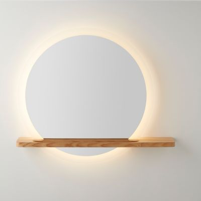 Miroir lumineux LED avec étagère GoodHome Adriska | Castorama