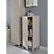 Demi-colonne de salle de bains fermée GoodHome Saranda métal gris L. 40 x H. 100 x P. 36 cm