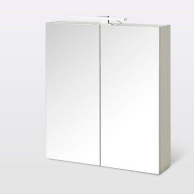 Armoire de salle de bains Indra miroir éclairant L. 60 x H. 67 x P. 14 6 cm
