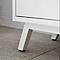 Meuble sous-vasque à poser GoodHome Ladoga blanc L. 80 cm