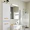 Armoire de salle de bains GoodHome Ladoga blanc L. 40 x H. 90 x P. 15 cm