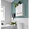 Armoire de salle de bains Ladoga blanc L. 60 x H. 60 x P. 15 cm