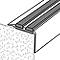 Nez de marche en aluminium décor métal GoodHome 40 x 20 x 900 mm