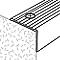 Nez de marche en aluminium décor métal mat GoodHome 35 x 25 x 1800 mm.