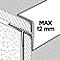 Profilé de rénovation de marche en aluminium décor métal mat GoodHome 21 x 30 x 900 mm