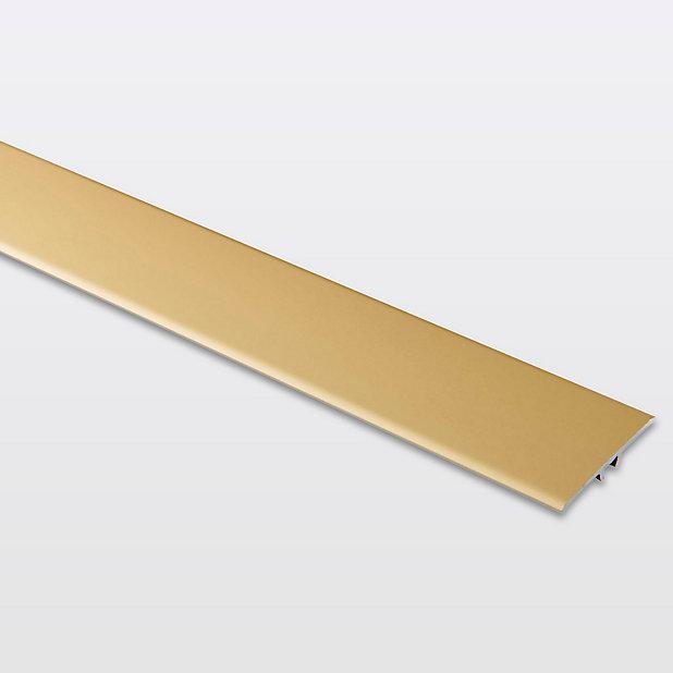 Barre De Seuil Extra Plate En Aluminium Decor Dore Mat Goodhome 37 X 930 Mm Castorama