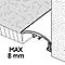 Barre de seuil incurvée en aluminium décor métal mat GoodHome 30x1800mm