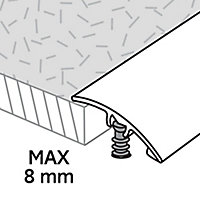 Barre de seuil incurvée en aluminium décor doré mat GoodHome 30x1800mm