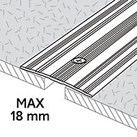 Large barre de seuil en aluminium décor doré mat GoodHome 60x930mm
