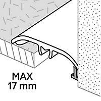 Barre de seuil en aluminium décor métal mat GoodHome 37x2700mm