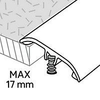 Barre de seuil en aluminium décor argent foncé brossé GoodHome 37x2700mm