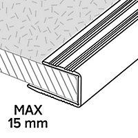 Profilé de finition en U en aluminium pour sol , décor métal mat GoodHome 15,5x930mm