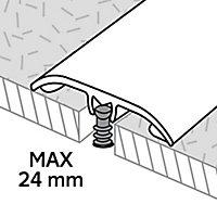 Barre de seuil en aluminium effet travertin GoodHome 37x930mm DÉCOR100