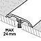 Barre de seuil en aluminium décor bois GoodHome 37x1800mm DÉCOR280