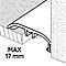 Barre de seuil en aluminium décor bois GoodHome 37x930mm DÉCOR290