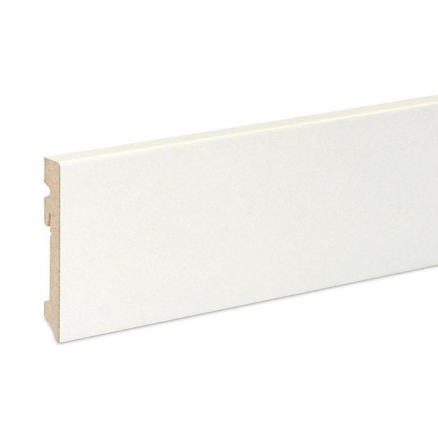 Plinthe Mdf Blanc Contemporaine Goodhome 220 X 10 Cm Decor 10 Castorama
