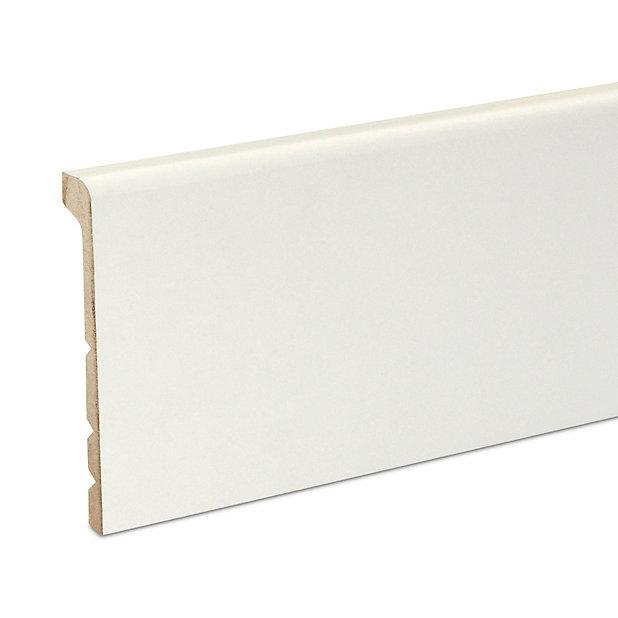 Couvre Plinthe Mdf Blanc Goodhome 220 X 13 8 Cm Decor 10 Castorama