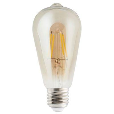 Ampoule LED Diall ST64 E27 6W=40W blanc neutre